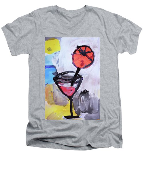 Martini And Orange Men's V-Neck T-Shirt