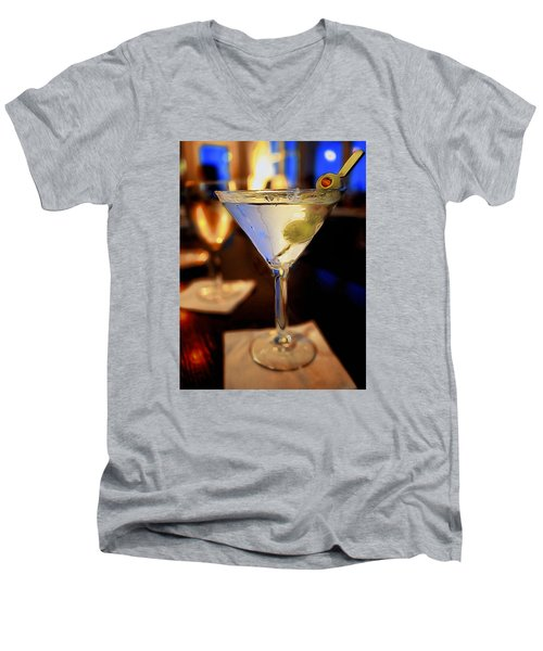 Martini Night Men's V-Neck T-Shirt