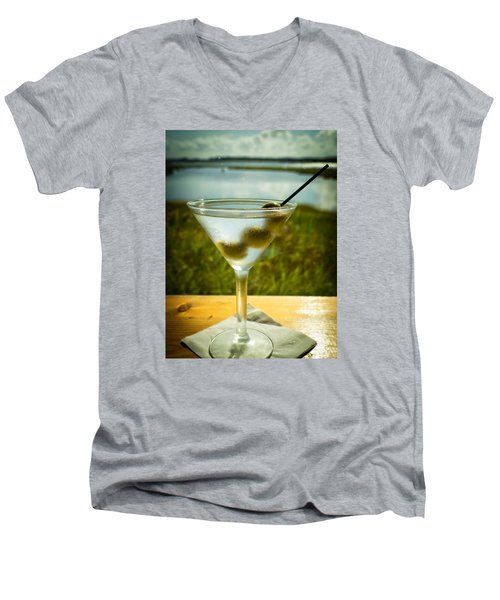 Martini On Fine Summer Day Men's V-Neck T-Shirt