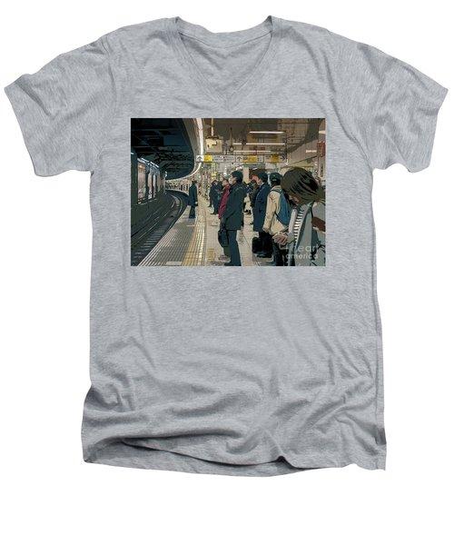 Marunouchi Line, Tokyo Metro Japan Poster 2 Men's V-Neck T-Shirt