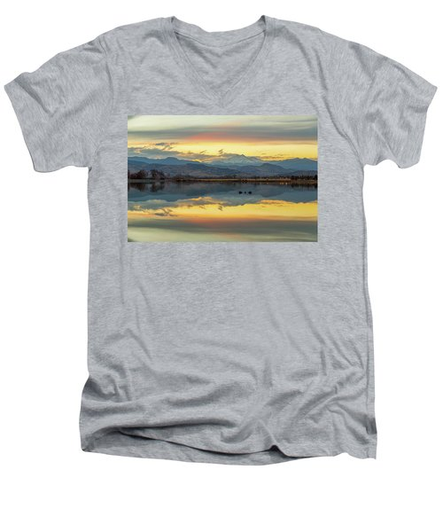 Men's V-Neck T-Shirt featuring the photograph Marvelous Mccall Lake Reflections by James BO Insogna