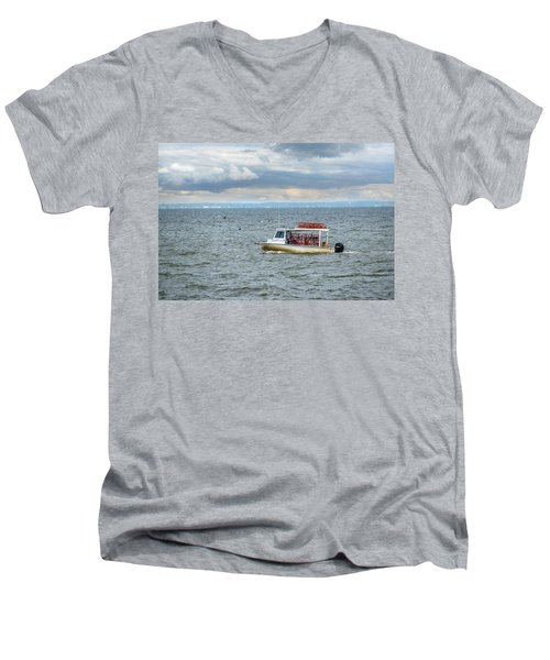 Maryland Crab Boat Fishing On The Chesapeake Bay Men's V-Neck T-Shirt