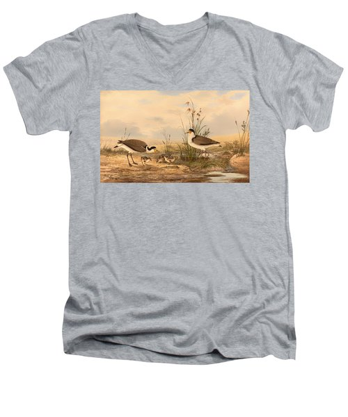 Masked Lapwing Men's V-Neck T-Shirt by Mountain Dreams