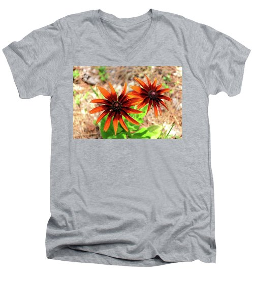 Men's V-Neck T-Shirt featuring the photograph Masked by Larry Bishop
