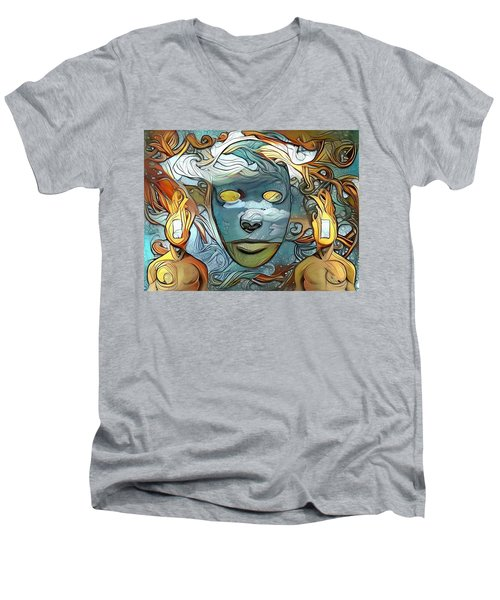 Masks Men's V-Neck T-Shirt