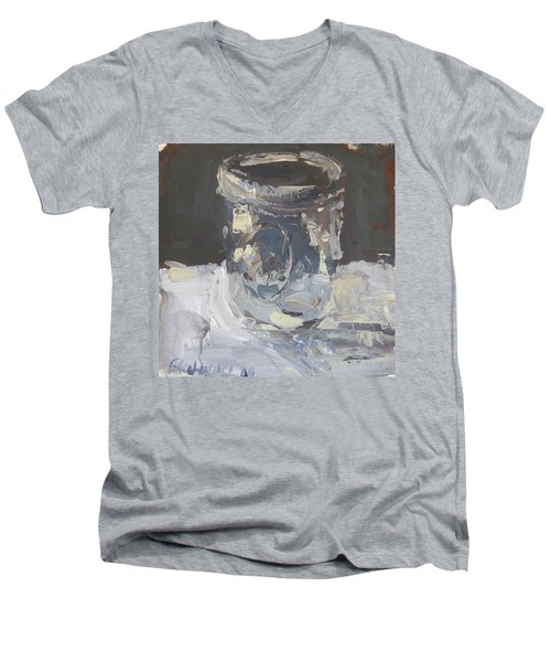 Men's V-Neck T-Shirt featuring the painting Mason Jar  by Robert Joyner
