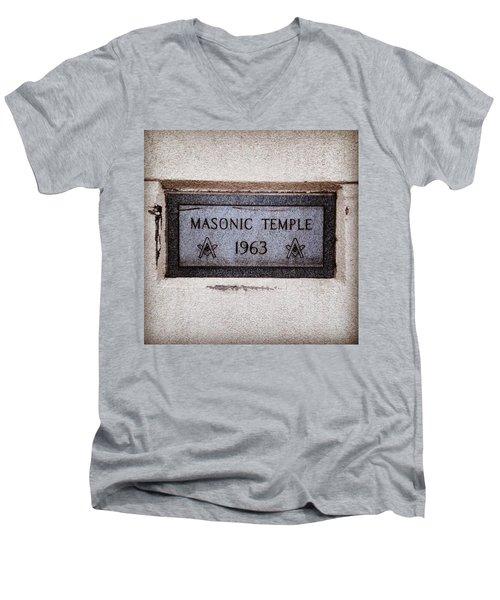 Masonic Temple Men's V-Neck T-Shirt
