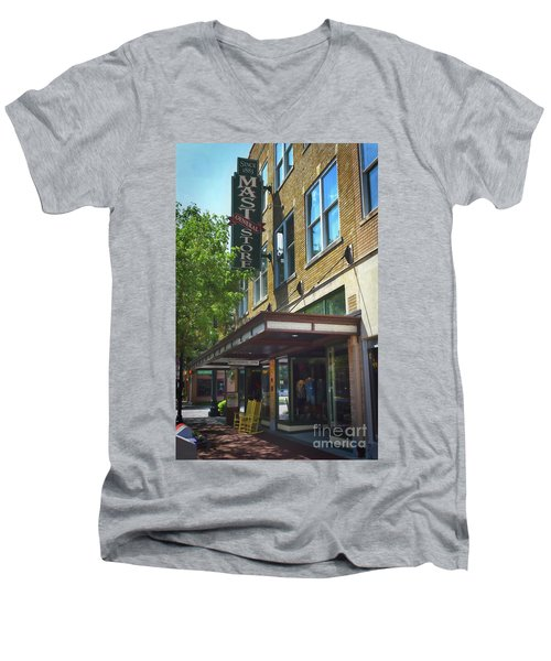 Men's V-Neck T-Shirt featuring the photograph Mast General by Skip Willits