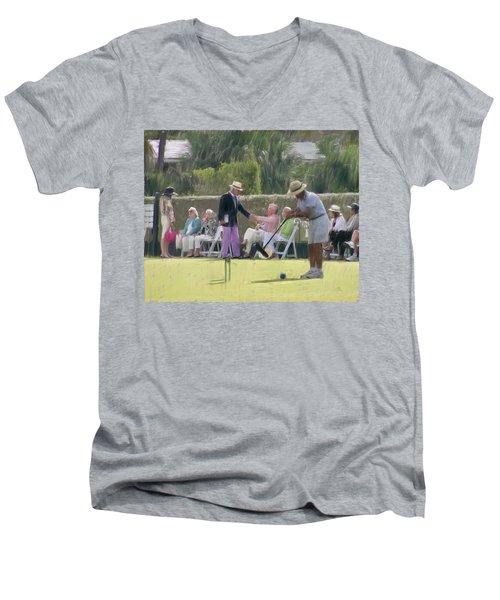 Match Final Men's V-Neck T-Shirt