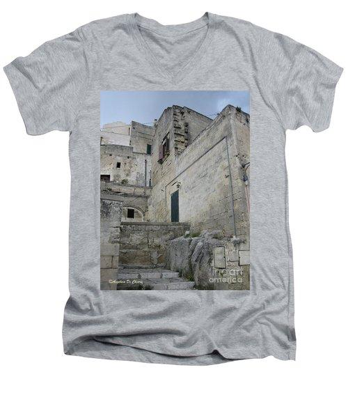 Matera Houses Men's V-Neck T-Shirt