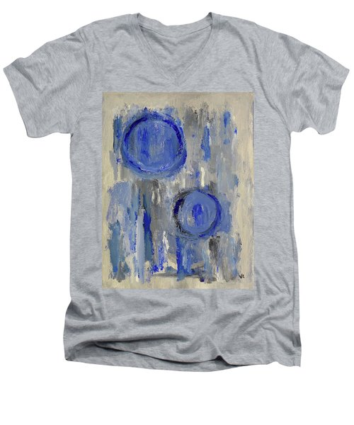 Men's V-Neck T-Shirt featuring the painting Maternal by Victoria Lakes