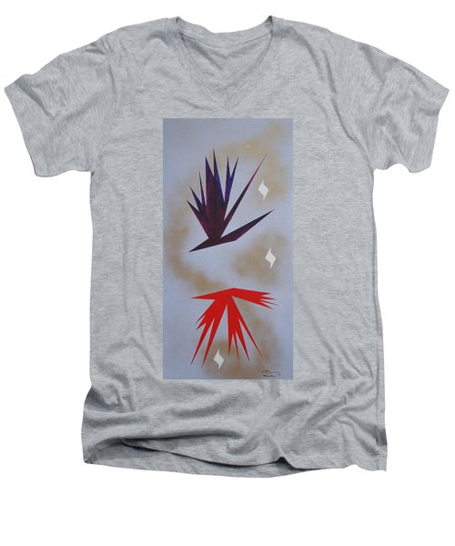 Mating Ritual Men's V-Neck T-Shirt by J R Seymour