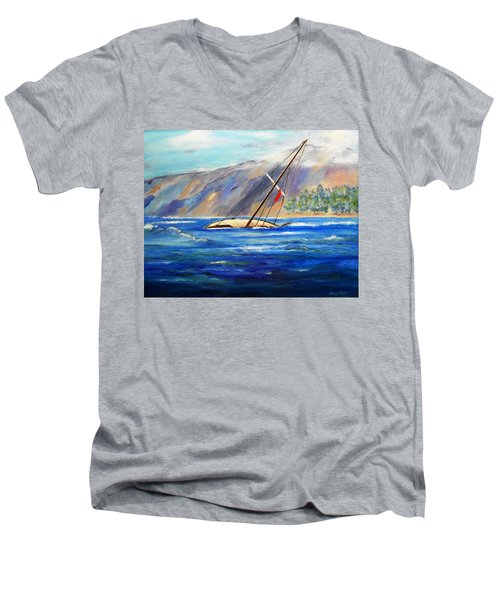 Maui Boat Men's V-Neck T-Shirt