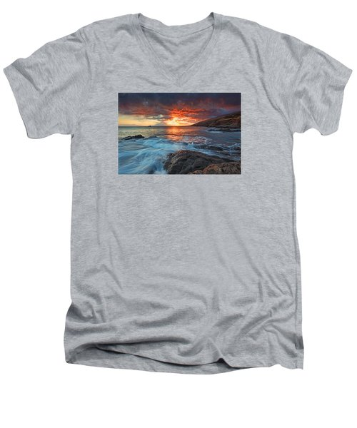 Maui Skies Men's V-Neck T-Shirt by James Roemmling