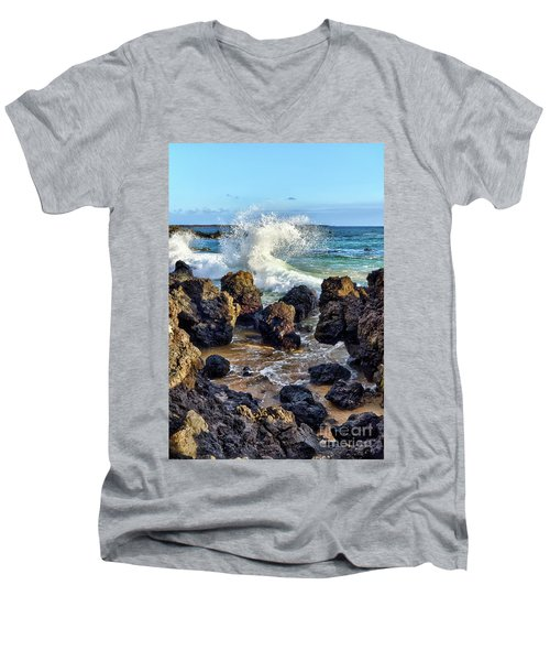 Maui Wave Crash Men's V-Neck T-Shirt