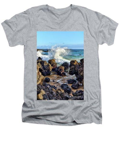 Maui Wave Crash Men's V-Neck T-Shirt
