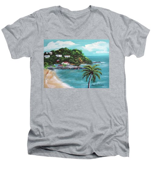Maunabo Puerto Rico Men's V-Neck T-Shirt by Luis F Rodriguez
