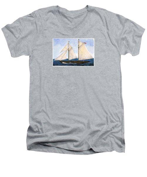 Mavis 1901 Men's V-Neck T-Shirt