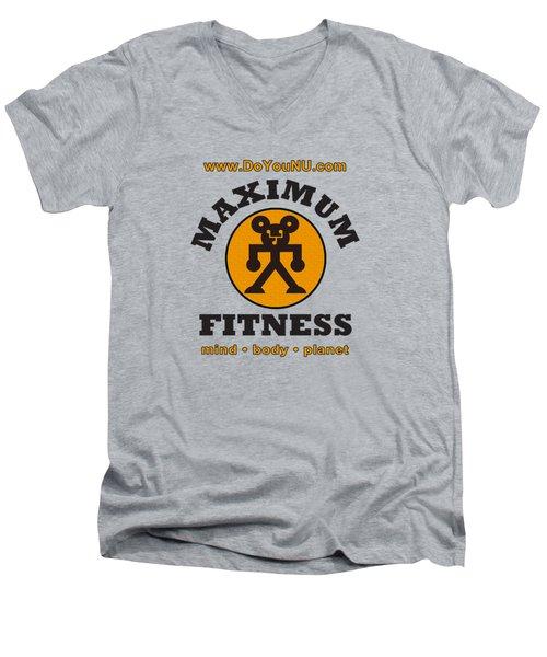 Max Round Men's V-Neck T-Shirt