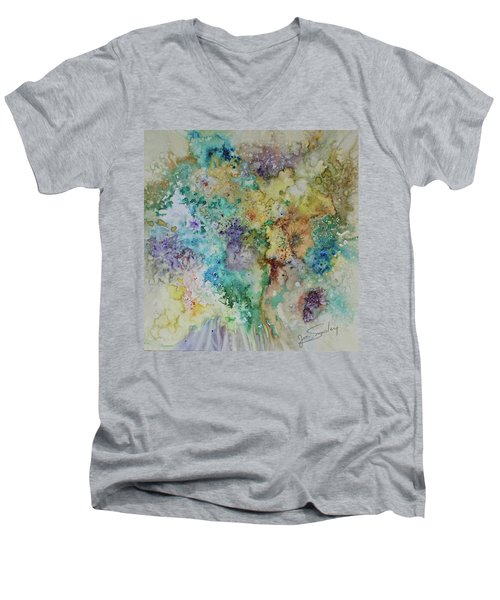 May Flowers Men's V-Neck T-Shirt by Joanne Smoley