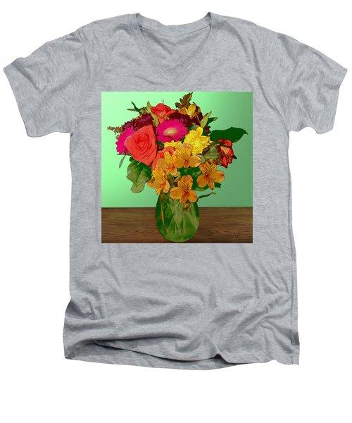 May Flowers Men's V-Neck T-Shirt