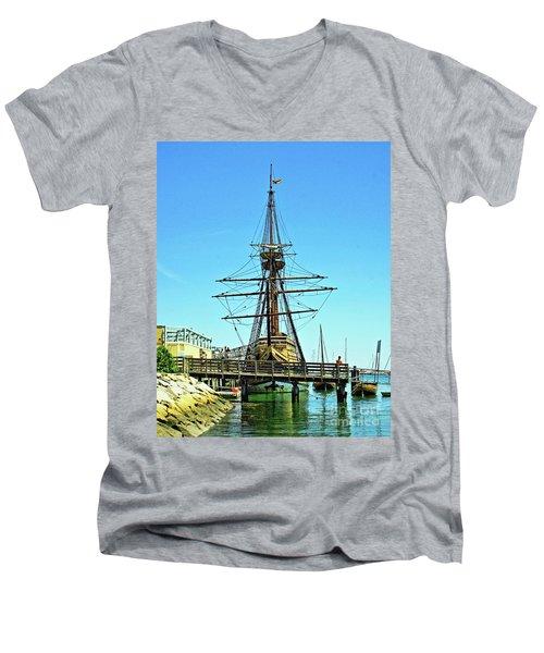 Mayflower II Men's V-Neck T-Shirt