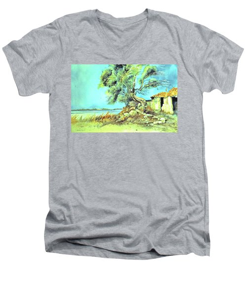Mayorcan Tree Men's V-Neck T-Shirt