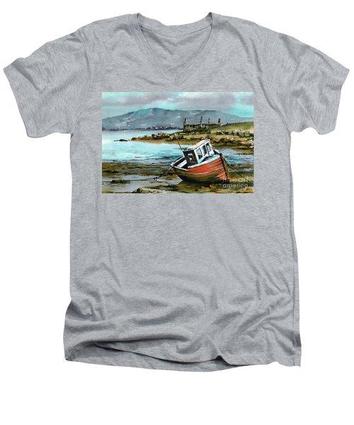 Mayo..red Boat At Coraun. Men's V-Neck T-Shirt