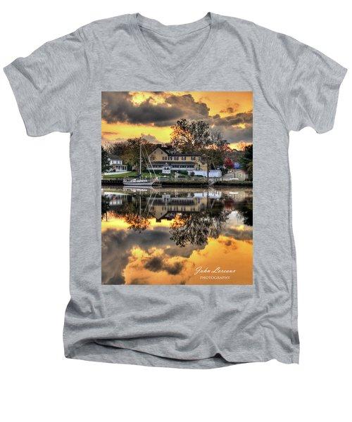 Mays Landing Sunrise Men's V-Neck T-Shirt
