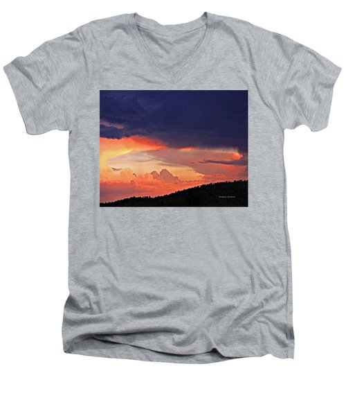 Mazatzal Peak Sunset Men's V-Neck T-Shirt