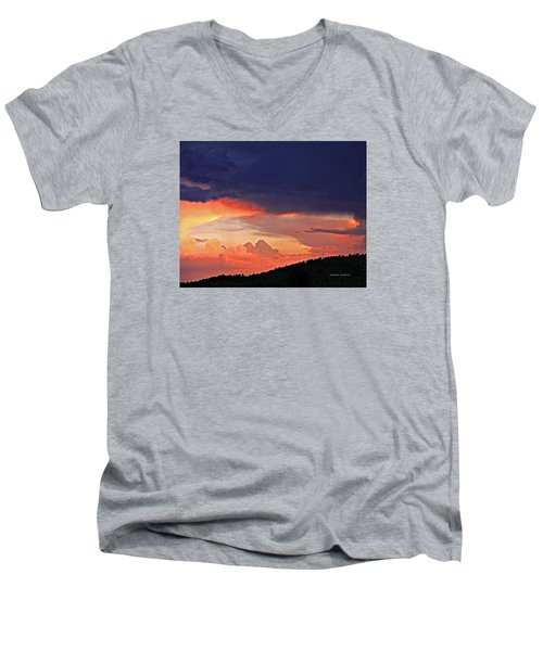 Mazatzal Peak Sunset Men's V-Neck T-Shirt