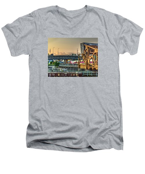 Mbta Bascule Bridge 010 Men's V-Neck T-Shirt
