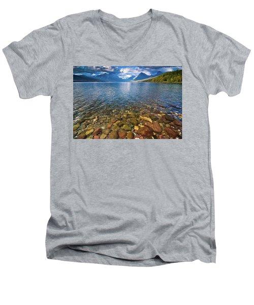 Mcdonald Lake Colors Men's V-Neck T-Shirt