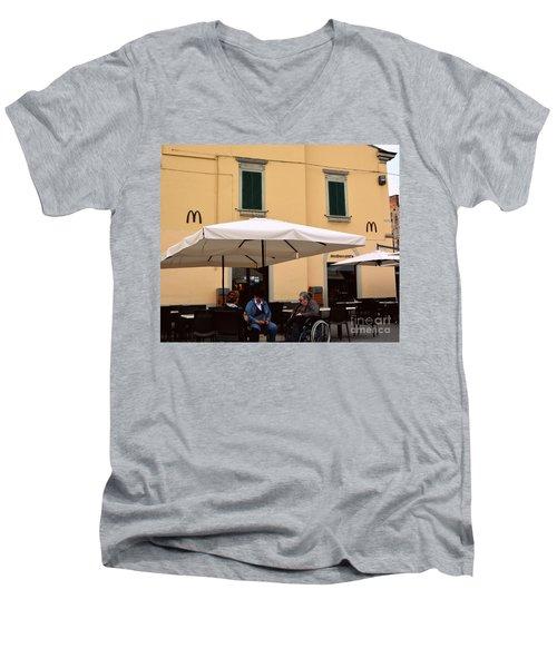 Mcdonald's In Pisa, Italy Men's V-Neck T-Shirt