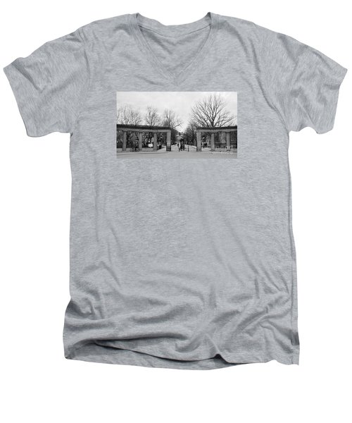 Mcgill Gates Men's V-Neck T-Shirt by Reb Frost