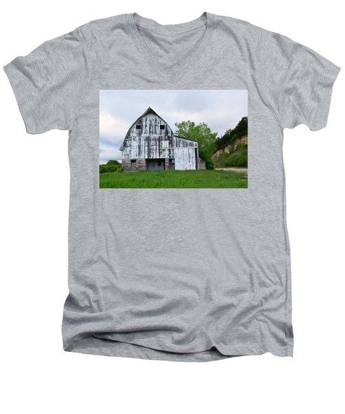 Mcgregor Iowa Barn Men's V-Neck T-Shirt by Kathy M Krause