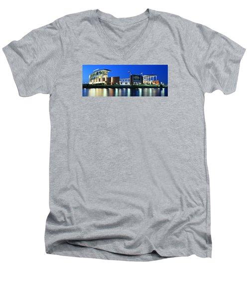 Mclane Stadium Panoramic Men's V-Neck T-Shirt