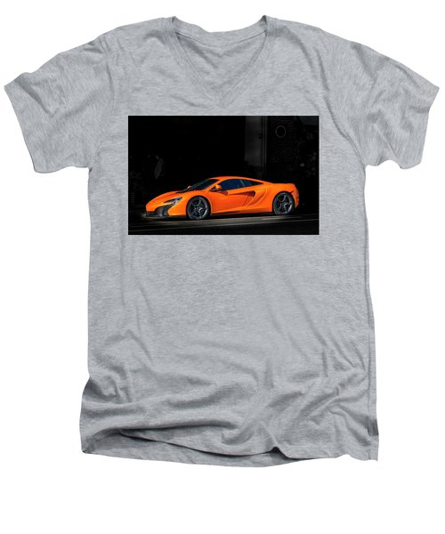 Mclaren 650s  Men's V-Neck T-Shirt