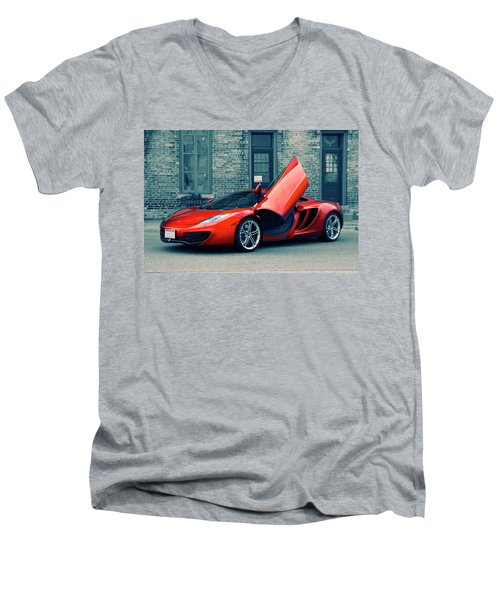 Mclaren Mp4-12c Men's V-Neck T-Shirt