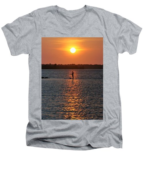Men's V-Neck T-Shirt featuring the photograph Me Time by John Glass
