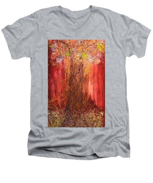 Me Tree Men's V-Neck T-Shirt by Gallery Messina