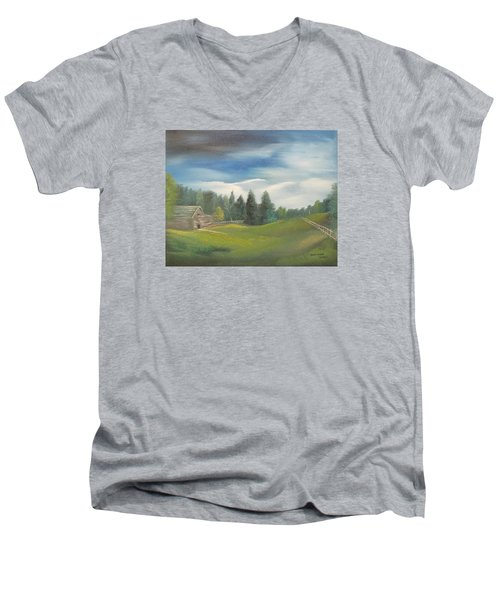 Meadow Dreams Men's V-Neck T-Shirt