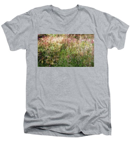 Meadow Men's V-Neck T-Shirt by Linde Townsend