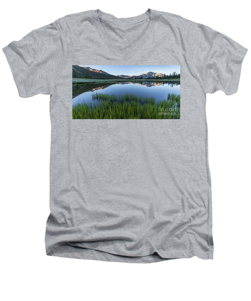 Meadow Reflections  Men's V-Neck T-Shirt