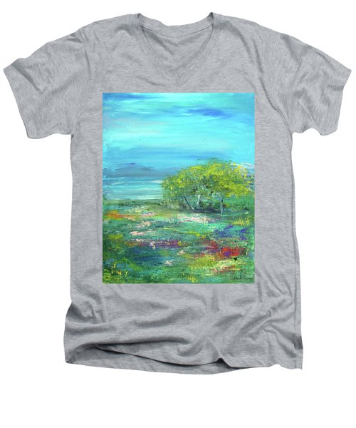 Meadow Trees Men's V-Neck T-Shirt