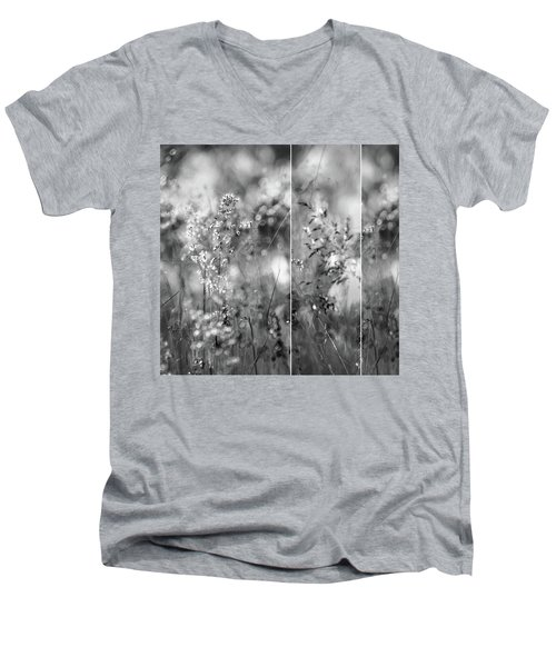 Meadowgrasses Men's V-Neck T-Shirt by Linde Townsend