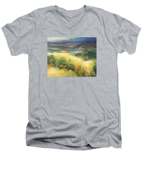 Meadowlands Of Gold Men's V-Neck T-Shirt by Glory Wood