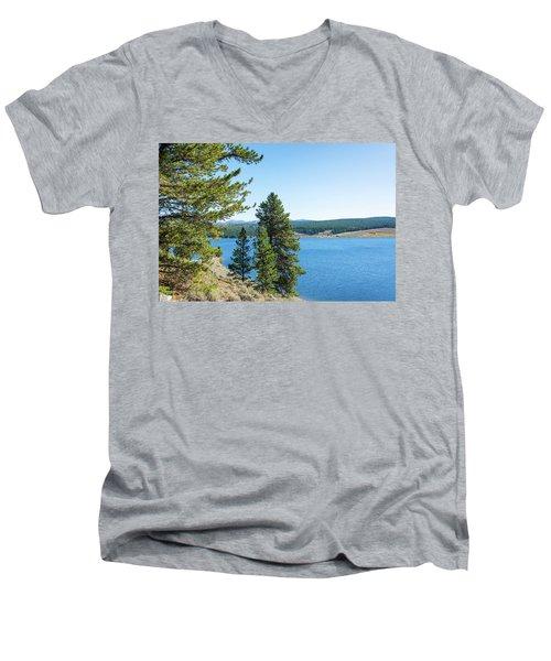 Meadowlark Lake And Trees Men's V-Neck T-Shirt