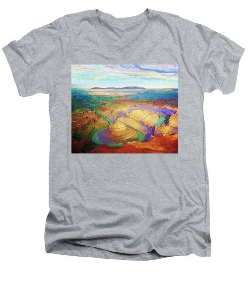 Meander Canyon Men's V-Neck T-Shirt