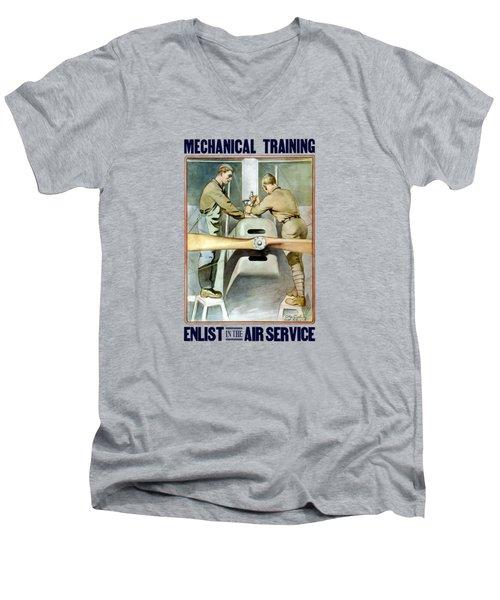Mechanical Training - Enlist In The Air Service Men's V-Neck T-Shirt
